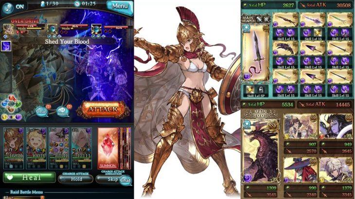 Granblue Fantasy グラブル – Dark Guardian's Xiphos Spartan 闇スパルタン・サイフォス スパルタ Test Run − アフィリエイト動画まとめ