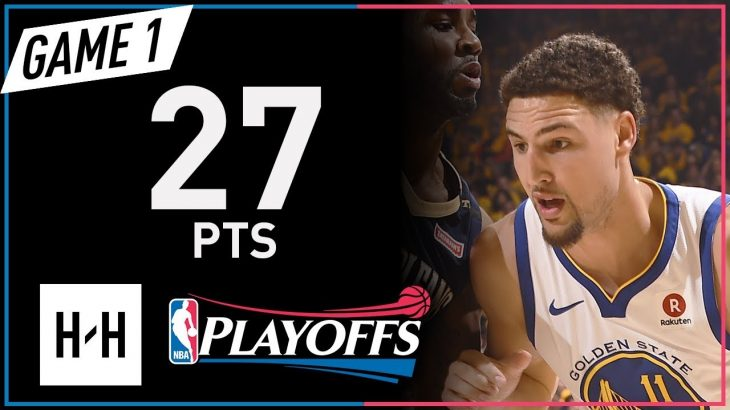 Klay-Thompson-Full-Game-1-Highlights-Pelicans-vs-Warriors-2018-NBA-Playoffs-27-Pts