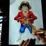 Drawing Monkey D. Luffy (Desenhando Monkey D. Luffy) ||ONE PIECE|| – アフィリエイト動画まとめ