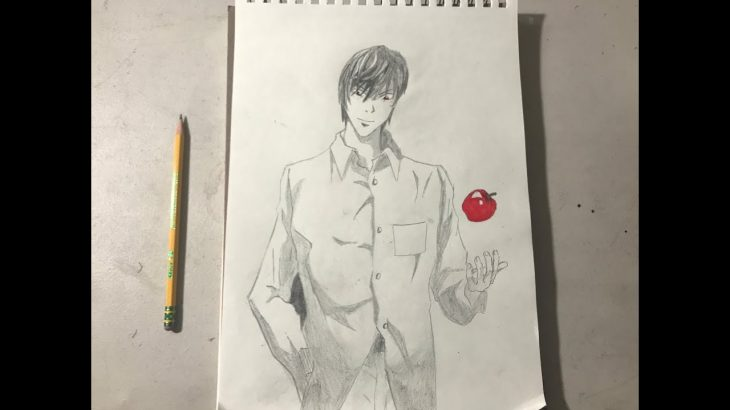 Light Yagami from Death Note | Speed Drawing − アフィリエイト動画まとめ