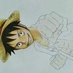 Speed drawing of monkey d. Luffy of one piece – アフィリエイト動画まとめ