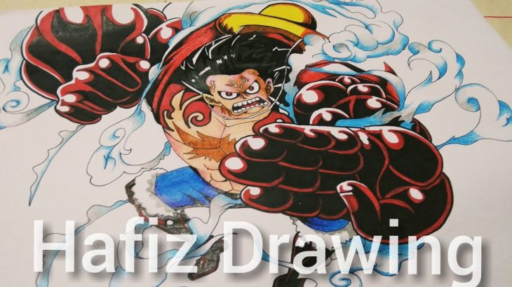 cara Melukis: monkey D Luffy gear 4 (One piece) Drawing Luffy gear 4 – アフィリエイト動画まとめ