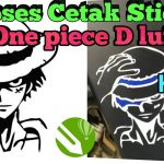 Buat sticker Luffy one piece | Cetak Sticker Luffy One piece Coreldraw – アフィリエイト動画まとめ