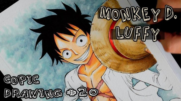 Copic Drawing (speed) #21: Monkey D. Luffy (One Piece) – アフィリエイト動画まとめ